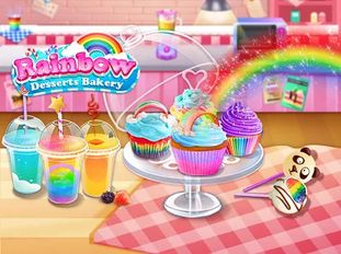 Взломанная Rainbow Desserts Bakery Party на Андроид - Мод много монет